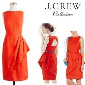 J.CREW COLLECTION// ChaCha red linen fitted dress